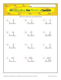 collections of decimal tenths worksheets wedding ideas