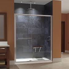 dreamline infinity z 56 to 60 in w shower door clear glass with