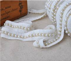 pearl lace compare prices on white pearl bridal trim online shopping buy low