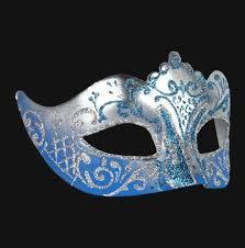 teal masquerade masks colombina stella silver sky blue masquerade mask vivo masks