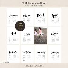 2016 calendar cards collection paislee press