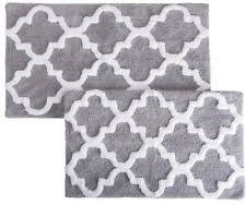 Silver Bath Rugs Medium Bath Mat 100 Cotton Bathmats Rugs U0026 Toilet Covers Ebay