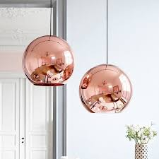 copper round pendant light with  from healscom
