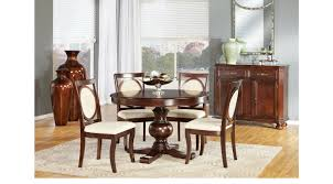 Cindy Crawford Dining Room Furniture Emory Heights Cherry 5 Pc Round Dining Room Transitional
