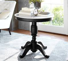 marble top pedestal table terri marble top large pedestal table pottery barn