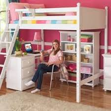 perfect2l full size low loft bed with stairs u0026 desk white by