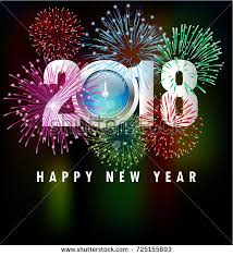 happy new year s greeting cards happy new year 2018 greeting card stock illustration 725155693