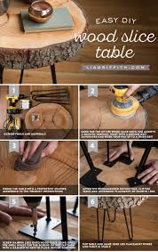 pre turned table legs diy wood slice table