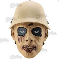 Zombie Mask Wwii German Zombie Soldier Airsoft Mask Cod Style Masks Uk