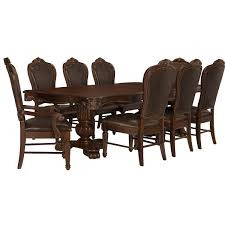 city furniture regal dark tone rectangular table u0026 4 leather chairs