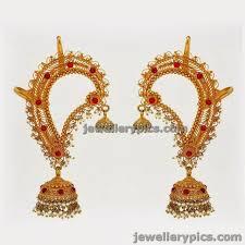 gold kaan earrings kaan phool muthina hara gold