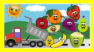 fruits song for children dump trucks with fruits educational video