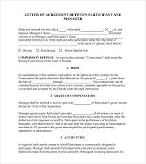 agreement letter between two parties template contract agreement