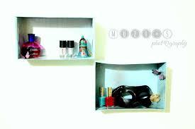 shoe box into wall shelves in a fools paradise easy diy clipgoo
