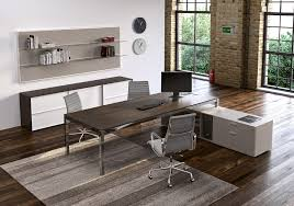 wood metal desk metal wood modern work desk ambience doré