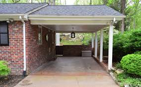 Building A Pergola Attached To The House by Building A Garage Or Carport Pergola Young House Love