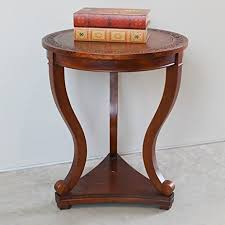 carved wood end table amazon com hand carved wood end table kitchen dining