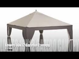 Garden Treasures Pergola Gazebo by Lowes Garden Treasures 10x12 Gazebo Youtube
