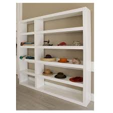 White Two Shelf Bookcase by Denso White Wall Unit By Temahome Eurway