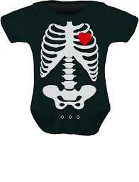 amazon com baby skeleton x ray heart halloween easy costume