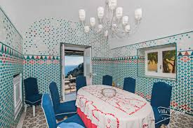 Casola Dining Room by Villa With Big Kitchen In Positano