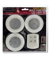 remote multi function led light set