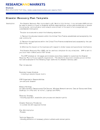 disaster recovery plan template tristarhomecareinc