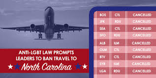 North Carolina travel ban images Cities and states ramping up travel bans in the wake of north png