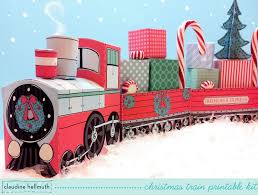 make a paper christmas train decoration youtube
