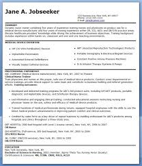 Medical Device Resume Examples by Sample Resume Nursing Words Sle Writing Guide Cna Skills And