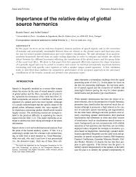 aes e library importance of the relative delay of glottal source