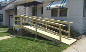 mobile home ramp with stairs to front landing ramps pinterest