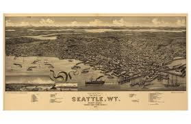 Old Map Of Seattle by Digital Print Seattle Octopus Tentacles Seattle Map