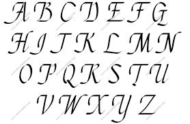 stylish english letter stylish cursive uppercase lowercase letter
