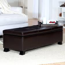leather ottoman storage bench like this item white leather storage