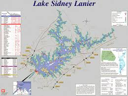 lake lanier map lake lanier maps