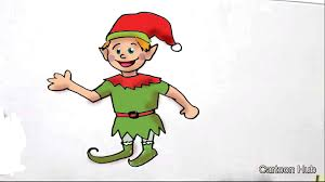 how to draw a christmas elf in easy steps for children kids