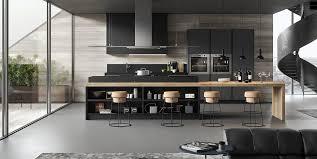 cuisine bois gris moderne de sign cuisine moderne fenix grise anthracite bois home style