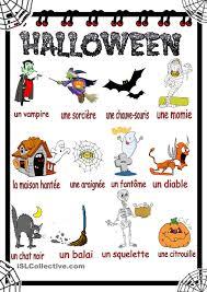 halloween vocabulaire gratuit fle worksheets language arts