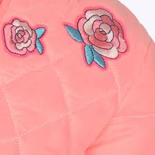 billieblush roses quilted bomber jacket u16161 in fuschia excel