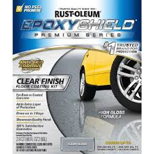 Rock Solid Garage Floor Reviews by Rust Oleum Epoxyshield 90 Oz Clear High Gloss Low Voc Premium