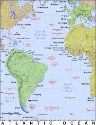 Oceans Map Atlantic Ocean Public Domain Maps By Pat The Free Open Source