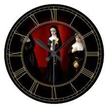 nun wall clocks zazzle