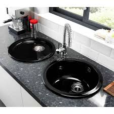 Astracast Lincoln Round Bowl Ceramic UndermountInset Sink Gloss - Round bowl kitchen sink