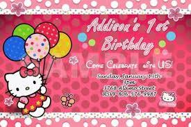 free printable hello kitty 1st birthday invitations drevio