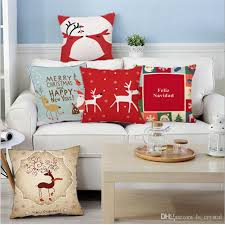 Sofa Pillow Cases 18 Inch Christmas Design Cushion Covers Sofa Pillow Throw Pillow
