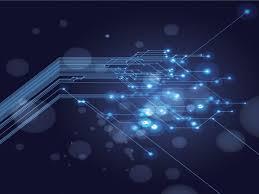 technology design powerpoint templates black blue technologies