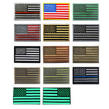 Ir American Flag Patch Embroidered Usa Us Flag Patches Army Badge Patch Tactical Military