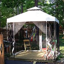 gazebo 8x8 lowes garden treasures 8 x 8 replacement canopy and netting garden