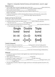 ch 8 2 compounds chemical formulas and covalent bonds
